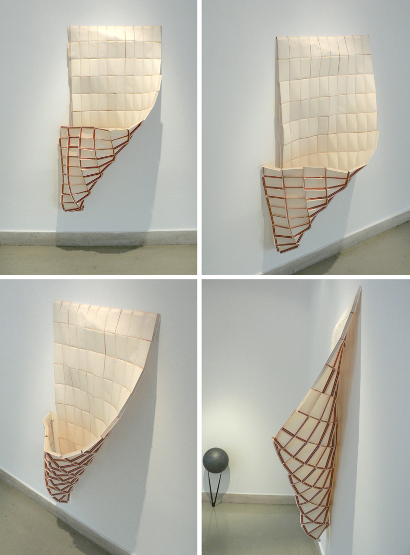Paper, glue. ~70x120 cm